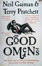 Book cover of Good Omens by Neil Gaiman and Terry Pratchett