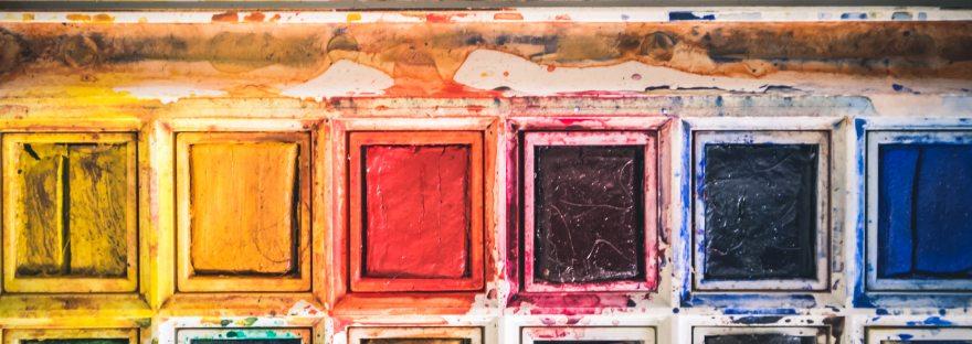 Watercolor art palette